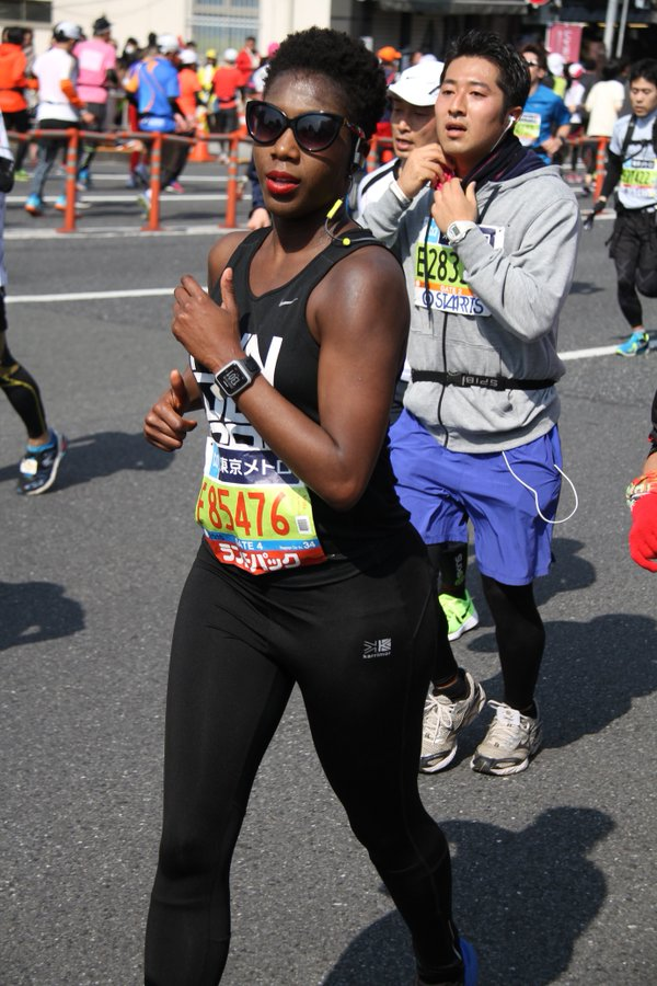 Matilda Egere-Cooper at Tokyo Marathon women in fitness and fitness motivation